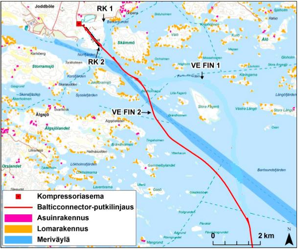 balticconnector-putkilinjaus-merella